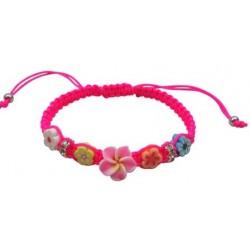 5 Fimo Flower Crystal Buffer Bracelet