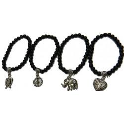 Black Bracelet with Charm