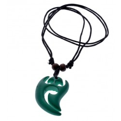 Green Resin Tribal Necklace