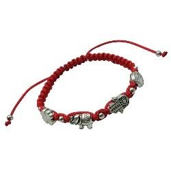 Red Lucky Charm Pendant Bracelet