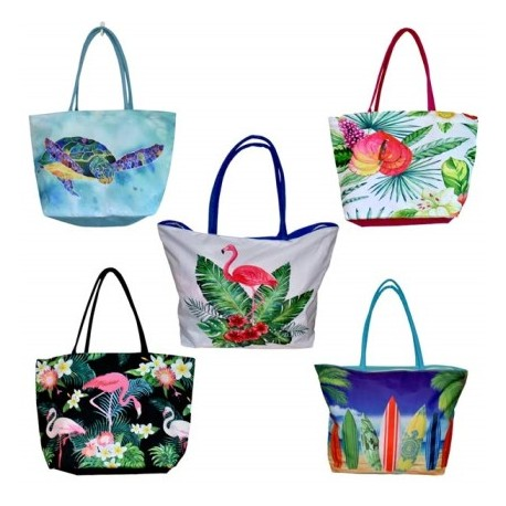 Tropical Motif Beach Bags