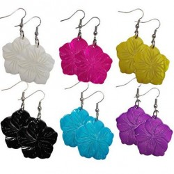 Shell Hibiscus Earrings