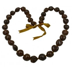 KuKui Nut Necklace - Brown