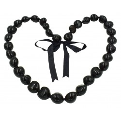 Black Kukui Nut Necklace