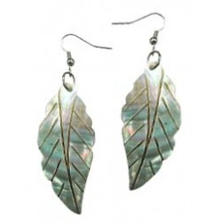 Mother of Pearl Leaf Earrings