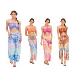 Tye Dye Long Pants With Matching Elastic Top Set