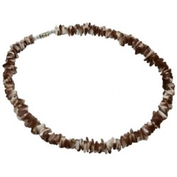 Tiger Rose Clam Puka Shell Necklace