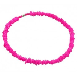 Rose Clam Shell Necklace - Neon Pink