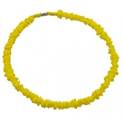 Rose Clam Shell Necklace - Yellow