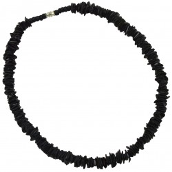 Rose Clam Shell Necklace - Black