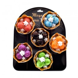 Real Life Faux Ice Cream Waffle Cup Magnets