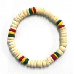 Beige / Rasta Coconut Bracelets