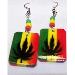 Leaf Rasta Earrings