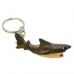Wooden Shark Key Chain