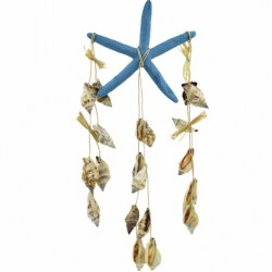 Turquoise Star Fish Wind Chime With Sea Shells