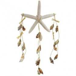White Star Fish Wind Chime With Sea Shells