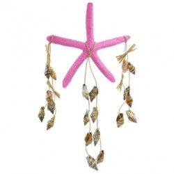 Pink Star Fish Wind Chime With Sea Shells