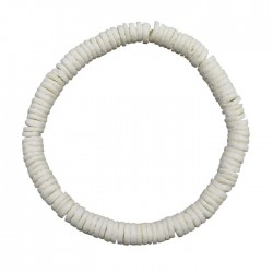 White Clam Shell Elastic Bracelet