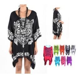 Turtle Motive Poncho Dress