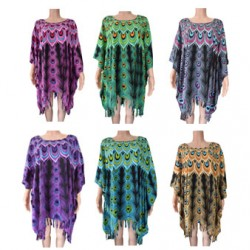 Peacock Poncho Dress