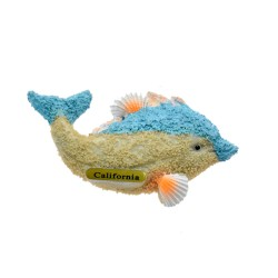 Ocean Sand Sea Shells Dolphin Magnets-California