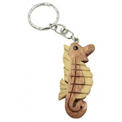 Wooden Sea Horse Key Chain