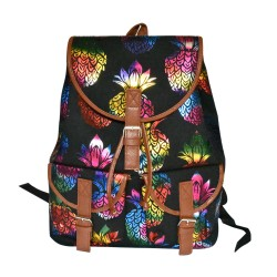 Pineapple Back Pack With Leather