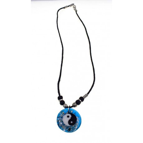 Yin Yang Pendant With Black Cord Necklace