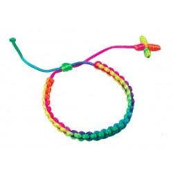 Cross Pendant With Neon Cord Bracelet
