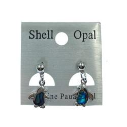 Paua Shell Earrings-Blue Penguin
