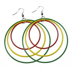 Rasta Color Earrings