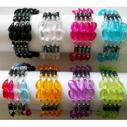 "33 Hematite Magnet Bracelet/Necklace-Heart"""