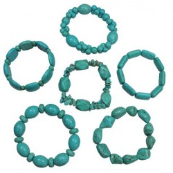 Turquoise Colored Stone Bracelets