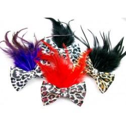 Bow & Feather Hair Clips