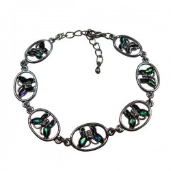 Ring Butterfly Paua Shell Bracelet With Anklet