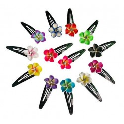 Fimo Flower Hair Clips