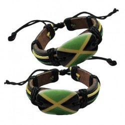 Rasta Style Leather Bracelet