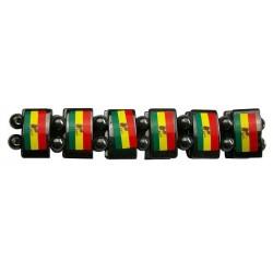 Hematite Rasta Flag Bracelet