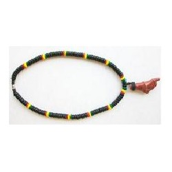 Rasta Coco With Red Coral Necklace
