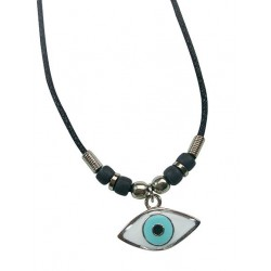 Metal Eye Pendant Necklace