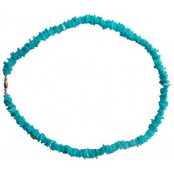 Rose Clam Shell Necklace - Blue