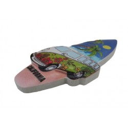 Surf Board Magnet (With California)