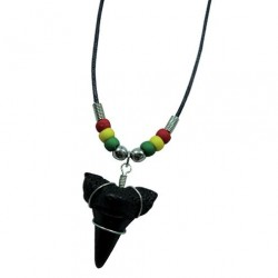 Shark Tooth Necklace - Rasta