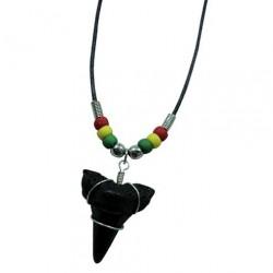 Shark Tooth Necklace - Rasta