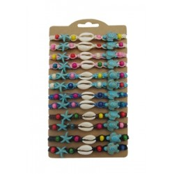 Turquoise Stone With Cowry Shell Bracelet