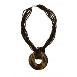 Banana Bark Pendant Necklace